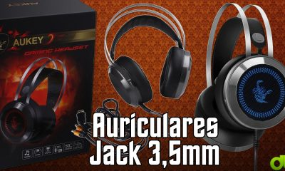 Auriculares Aukey GH-S3 RGB Jack 3,5mm y USB Led Unboxing y Evaluate