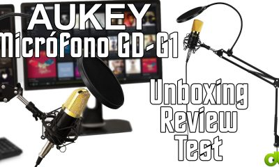 Micrófono Condensador Aukey GD-G1 con brazo soporte de mesa Unboxing Evaluation y Take a look at