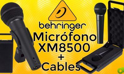 Microfono Behringer Ultravoice XM8500   Cables XLR y Jack 3,5mm 6,35mm Unboxing Overview y Test de Voz