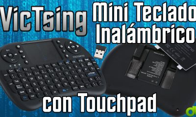 Miniteclado VicTsing Inalambrico 2.4GHz con touchpad (Diseño Español) Unboxing y Overview