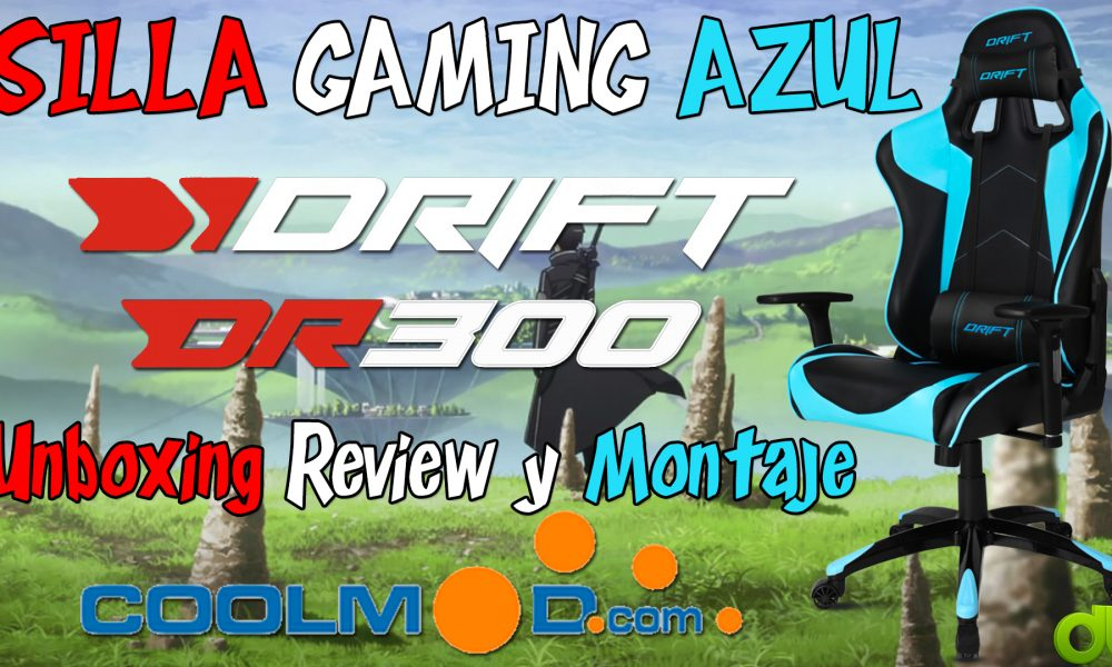 Silla Gaming Drift DR300 Azul Unboxing Review y Montaje (Coolmod.com)