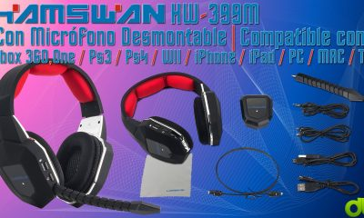 Auriculares Gaming Inalambricos Hamswan HW-399M para PC PS4 PS3 XBOX ONE y 360 Unboxing y Evaluation
