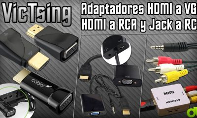 Adaptadores HDMI a VGA, Jack a RCA, HDMI a RCA (para Raspberrry Pi, PC, Android TV, Consolas, and so on)