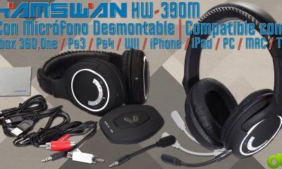 Auriculares Wi-fi HW-390M HUHD HAMSWAN para PC, PS3, PS4, Xbox ONE y Xbox 360 (Unboxing y Review)