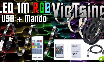 LED Resistente al agua RGB 1M Resistente al agua USB   Mando Victsing (Unboxing y Review)