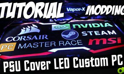Tutorial Hacer Separador Luminoso Personalizado PSU Cover LED (Modding Custom PC CaseMod)