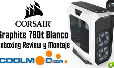 Torre Corsair 780T Graphite Blanco Unboxing, Review y Montaje de PC