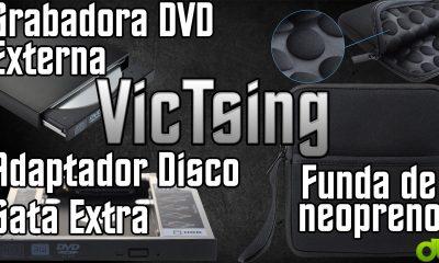 Adaptador disco duro o SSD extra en portatil   Grabadora DVD externa   Funda (VicTsing Unboxing y Review)