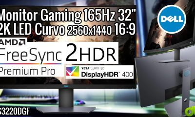 Dell Monitor Gaming 165Hz 32″ 2K LED Curvo FreeSync 2 Premium Pro HDR 400 Quad HD 2560×1440 16:9 QHD S3220DGF Unboxing Review Tutorial Test