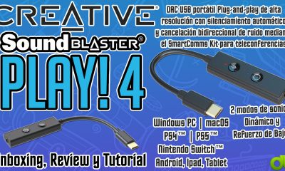 Creative Sound Blaster Play 4 Auto Mutea Micrófono y Quita Ruido Entrada y Salida Unboxing y Review